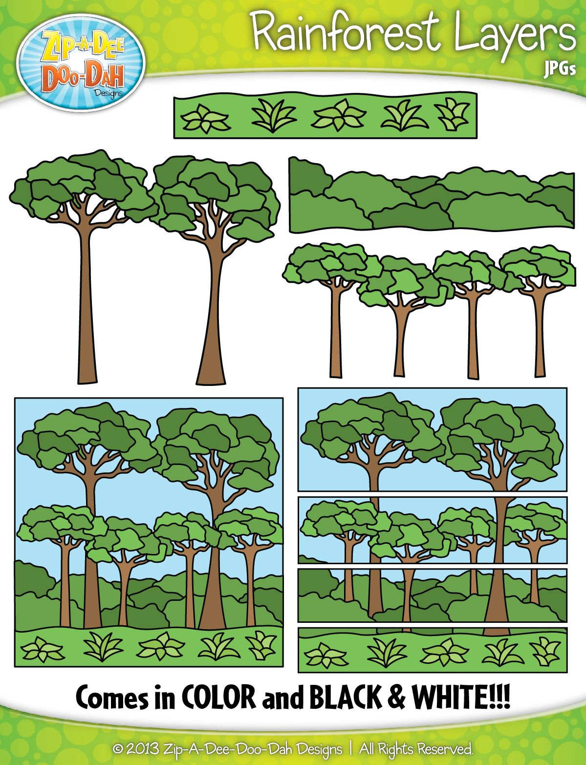 Rainforest Layers Clipart Zip A Dee Doo Dah Designs