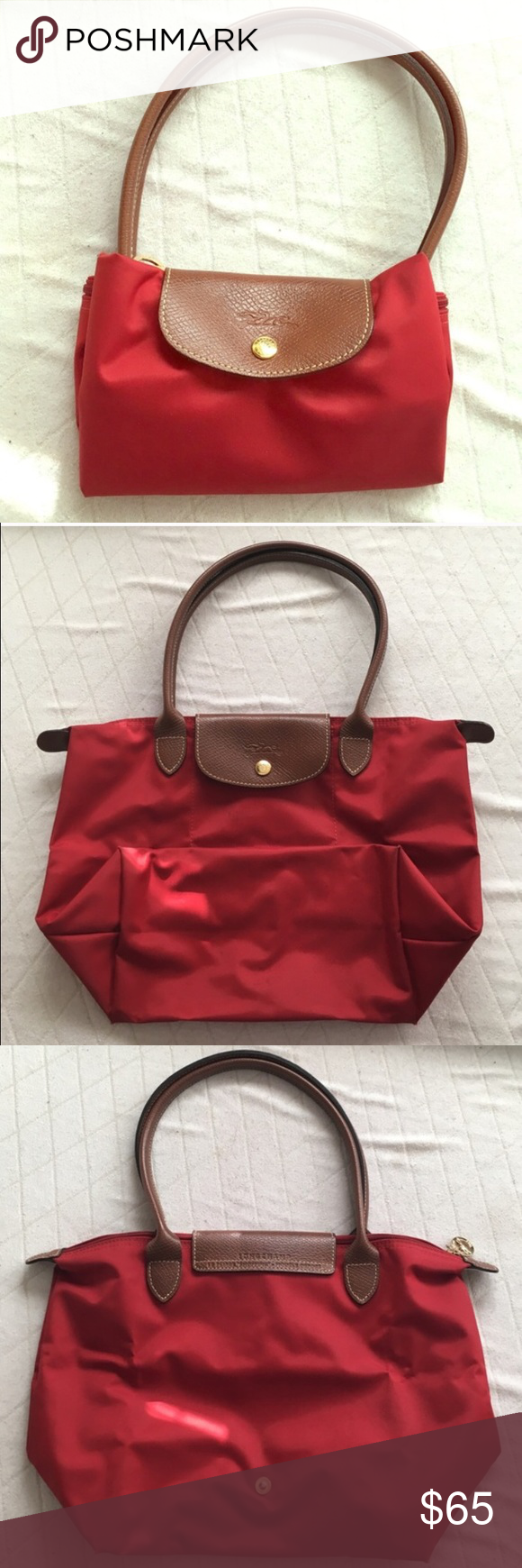 Longchamp Le Pliage small tote Bought from original Longchamp store in Paris. Minor wear from 2 uses. This bag is in great condition!! Longchamp Bags Shoulder Bags