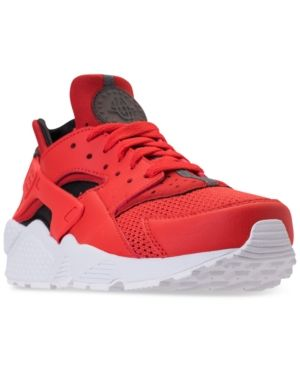 7d719cade5079 Nike Men s Air Huarache Run Running Sneakers from Finish Line - Red ...