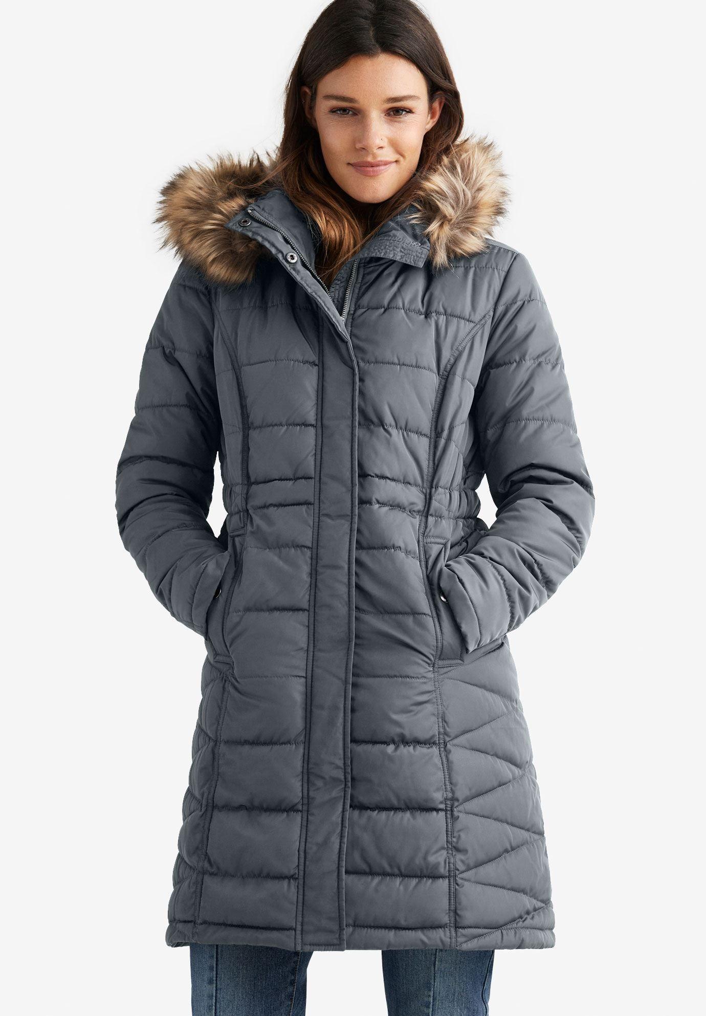 Faux Fur Trim Puffer Puffer Jacket Women Plus Size Puffer Coat Winter Puffer Coat [ 1986 x 1380 Pixel ]