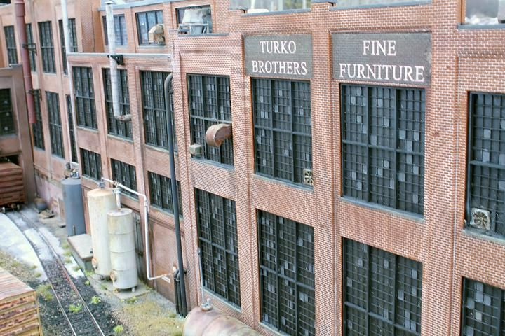 Turko Brothers Fine Furniture Factory Diorama Model Railroad Hobbyist Magazine Having Fun With Model T Furniture Factory Model Railroad Model Train Scenery