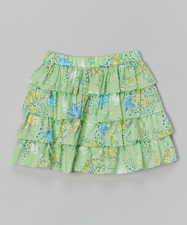 This Sea Green Tiered Skirt - Toddler & Girls is perfect! #zulilyfinds