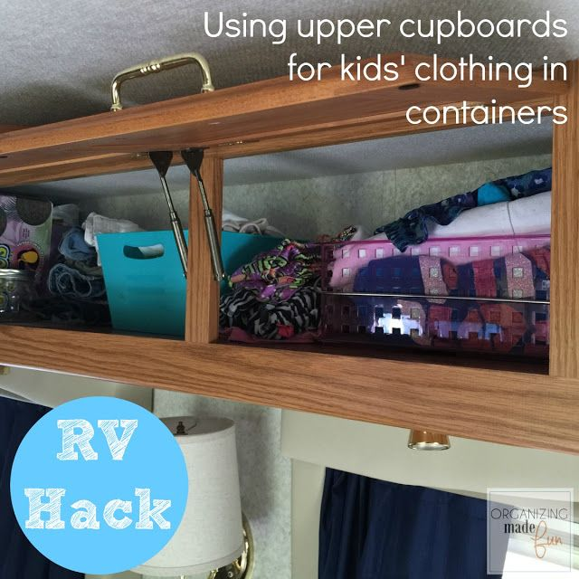 Rv Organizing And Storage Hacks Small Spaces Organizing Made Fun Rv Organizing And Stor Rv Organization Kids Clothes Organization Small Space Organization