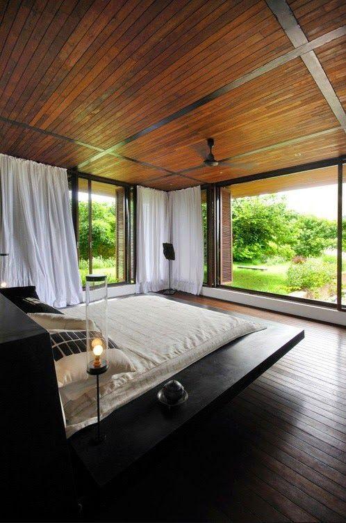 schönes schlafzimmer holz natur   Wall Art/Home decorations ...