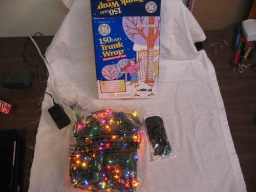 Nib Ge Christmas 150 Multi Light Trunk Wrap Outdoor Net Set Christmas Net Lights