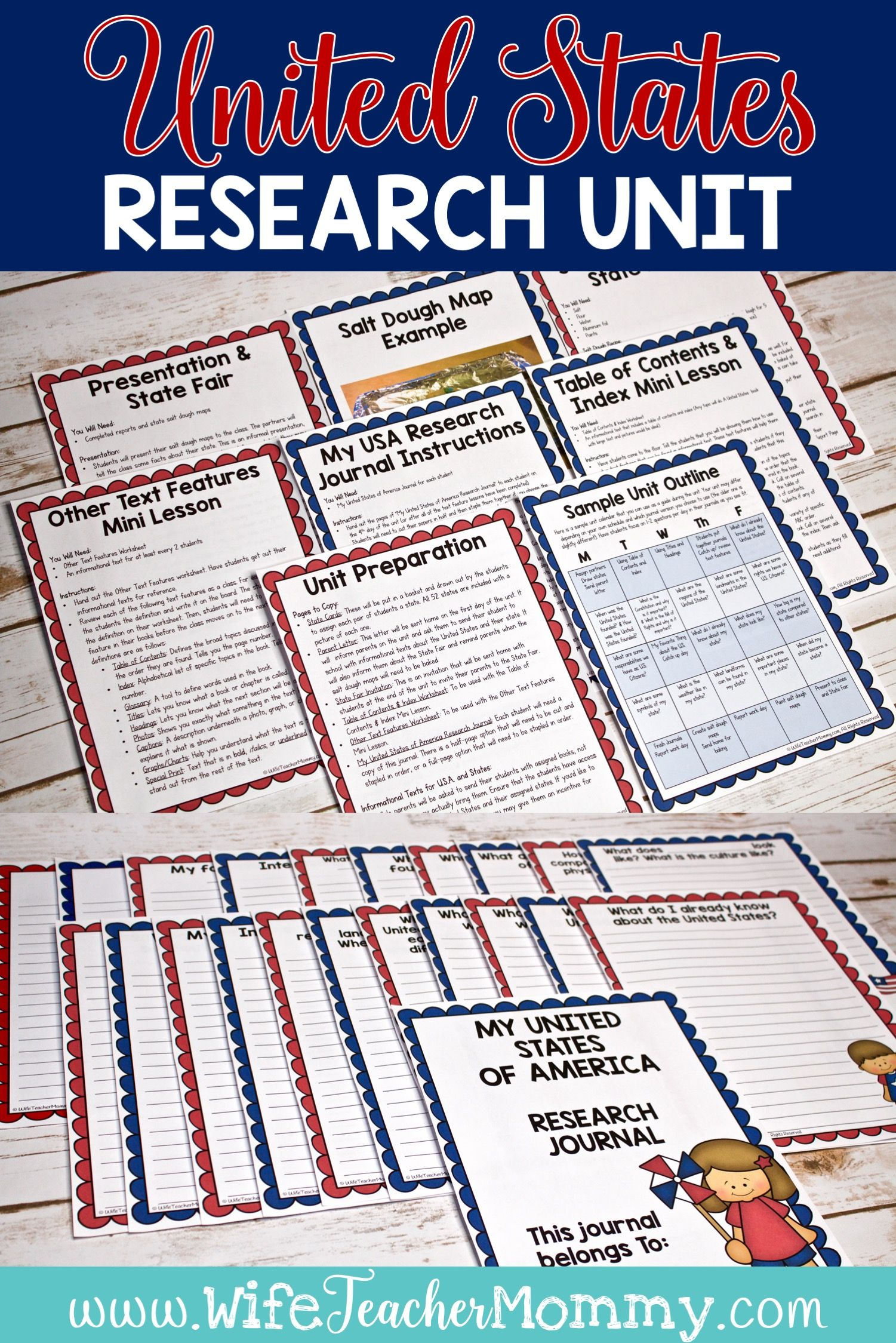 United States And Us Presidents Research Units Bundle