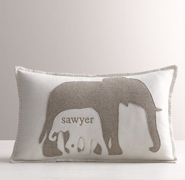 Yes, perfect for my little man! Appliquéd Felt Elephants Decorative Pillow Cover