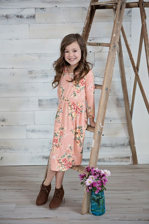 ff3fffcc8 Little Girls Floral Dress, Cinched Dress, Spring Fashion, Ryleigh Rue  Clothing, Peach Dress, Kids Clothing, Kids Boutique, Online Shopping,  Online Boutique, ...