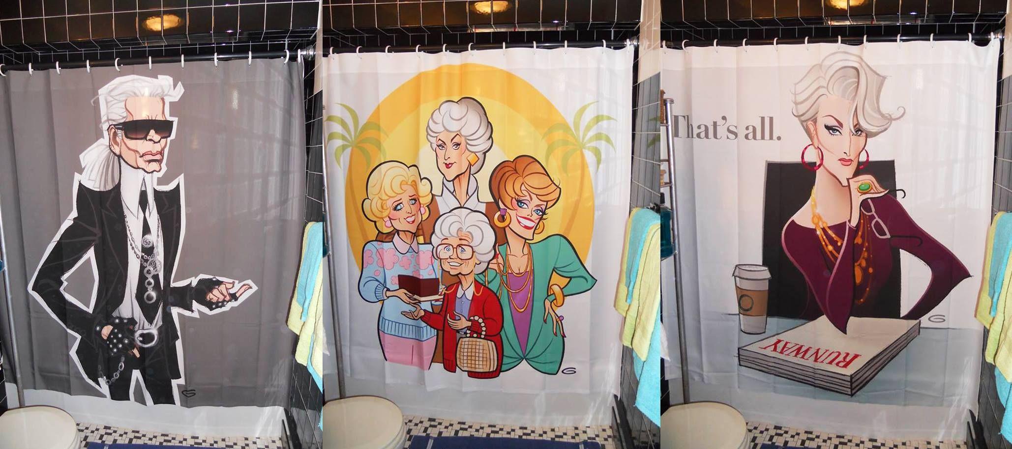 Glen Hanson Caricature Shower Curtains Wohnen