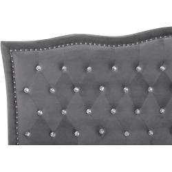 Reduced upholstered beds -  Velvet bed dark gray 160 x 200 cm Metz BelianiBeliani  - #AbstractPaintings #beds #FineArt #reduced #upholstered #WatercolorPainting
