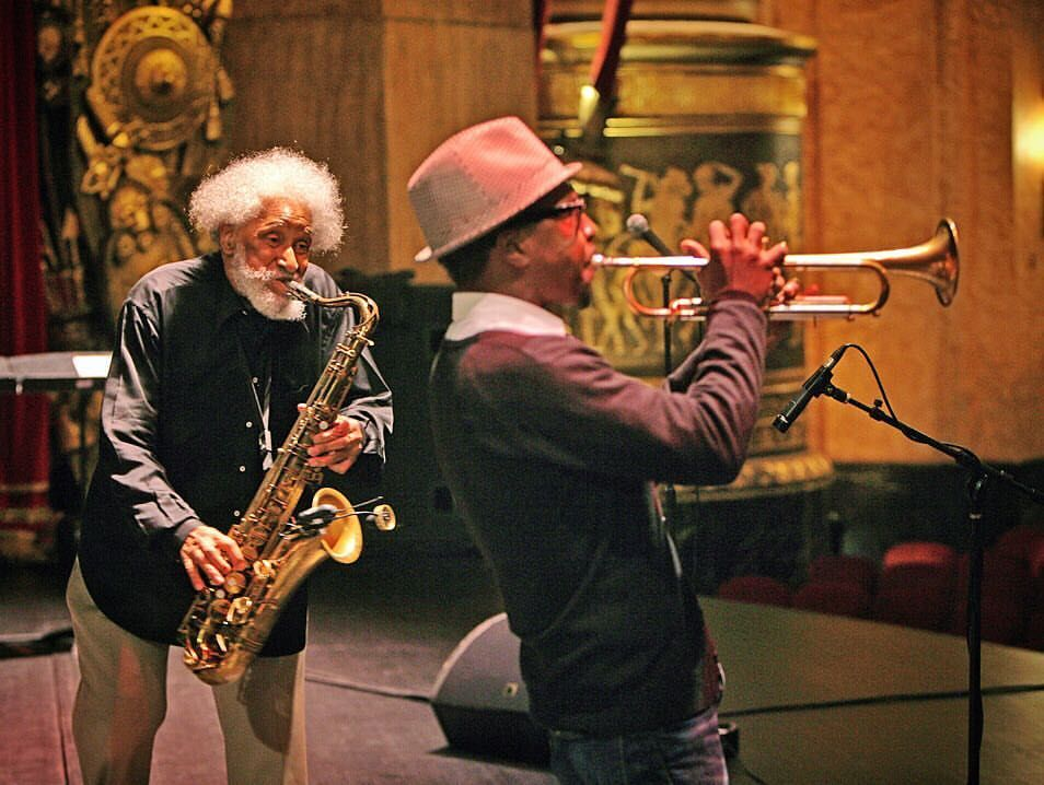 Sonny Rollins and Roy Hargrove Sonny's 80th birthday concert at the Beacon Theater in September 2010