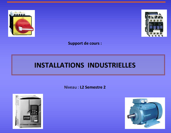 Installations Industrielles Pdf Cours D Electromecanique Data Science Technology Education