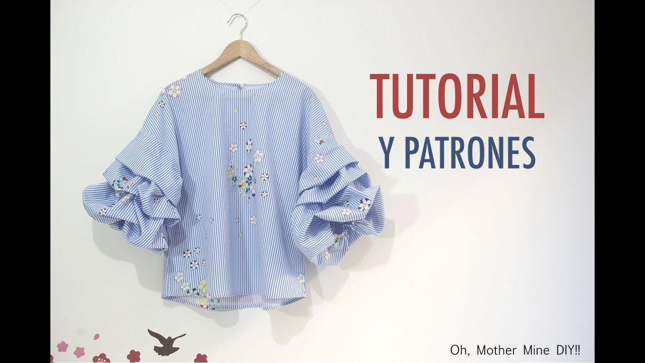 DIY Costura de blusa con mangas abullonadas (Patrones gratis ...