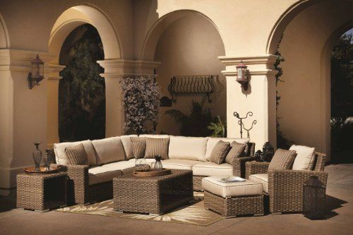 (CLICK IMAGE TWICE FOR UPDATED PRICING AND INFO) #home #patio #sofa #outdoor #outdoorsofa #patiosofa #patiosofaset #loungesets #outdoorpatiosofasets  see more patio sofa at http://zpatiofurniture.com/category/patio-furniture-categories/patio-sofa/ - Coronado Resin Wicker Outdoor Seating Set Patio Sectional Sofa Furniture w/ Sunbrella Cushions « zPatioFurniture.com