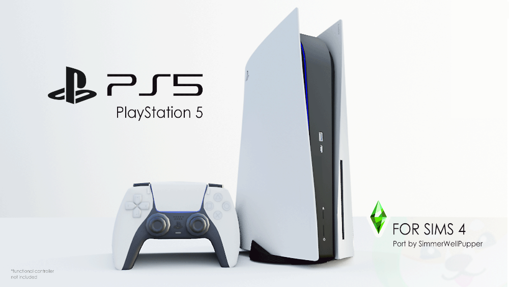 Mod The Sims Sony PS5 Set (Functional) Sims 4 Sims Sims 4 cc