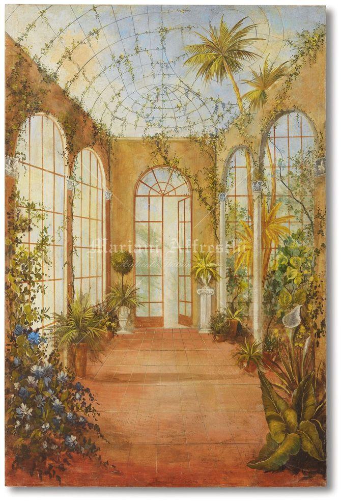 Art. 1001 - La veranda sul giardino | Trompe l'oeil, Tromperie, Yeux