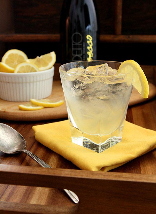 Sparkling Lemon Ginger Cooler---really good recipe for ginger lemon simple syrup