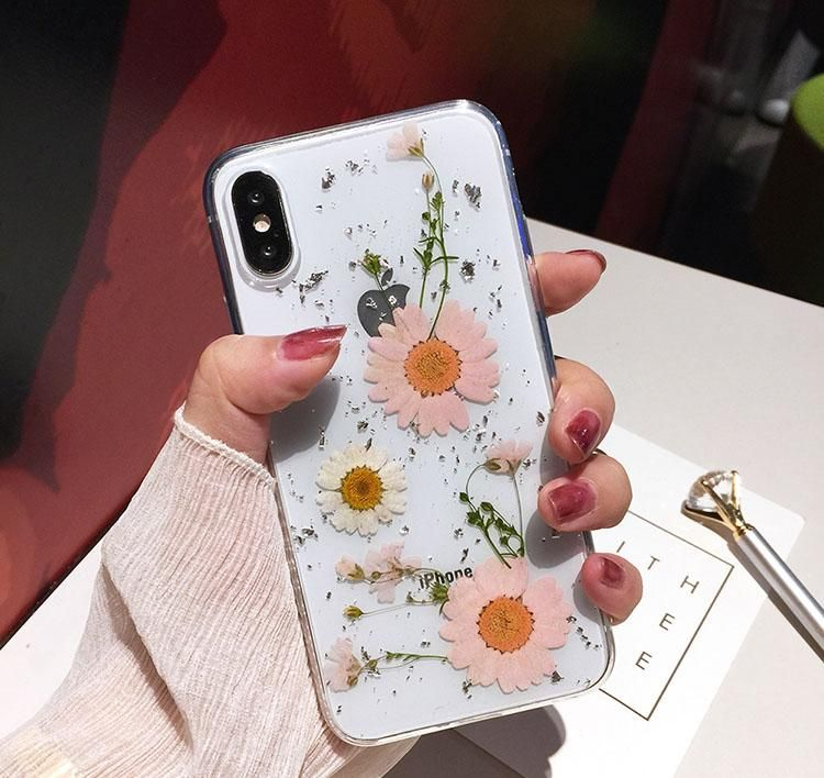Luxe Pressed Flower Protective Iphone 11 12 Case Cute Flower Iphone Cases Phone Cases Protective Iphone Phone Cases