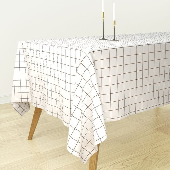 Geometric Square Dinner Napkins Set of 2 Geo Cube  Cloth Napkins by Spoonflower - Black White Monochrome Grid by sunny/_afternoon