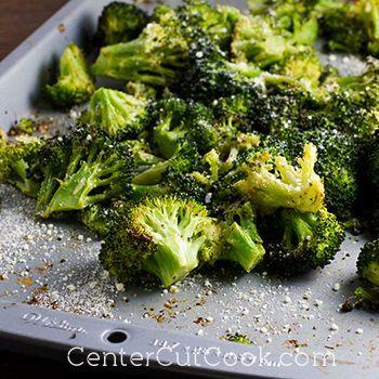 Roasted Garlic Parmesan Broccoli Recipe Veggie Dishes Recipes Vegetable Recipes