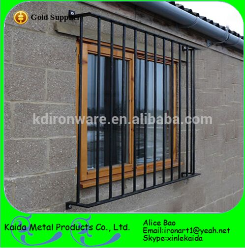 Security metal modern window grill design all kinds of for Exterior window grill design