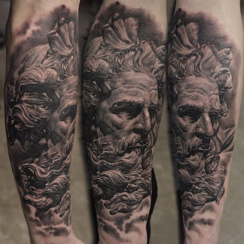 Pin By Ashley Mcclanahan On Oct Poseidon Tattoo Tattoos