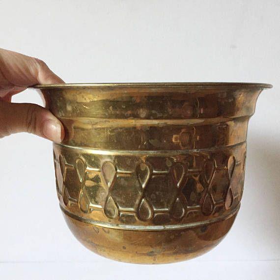 Vintage brass plant pot beautiful indoor planter | Indoor ...