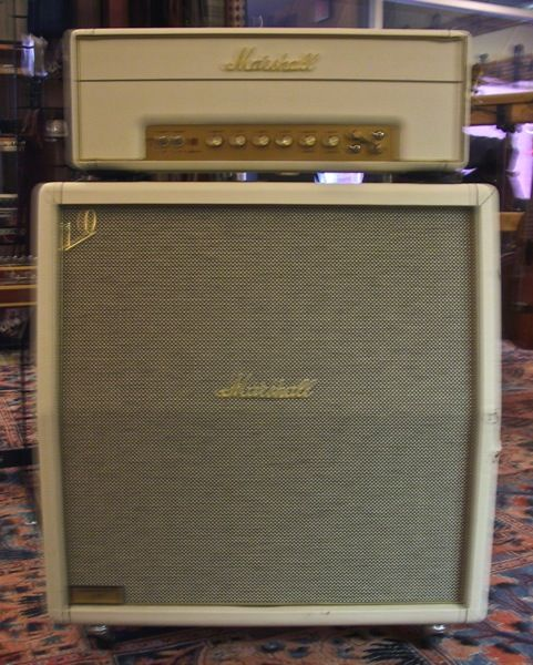Marshall Stack Shocking White Covered 1960ax 4x12 Cabinet With