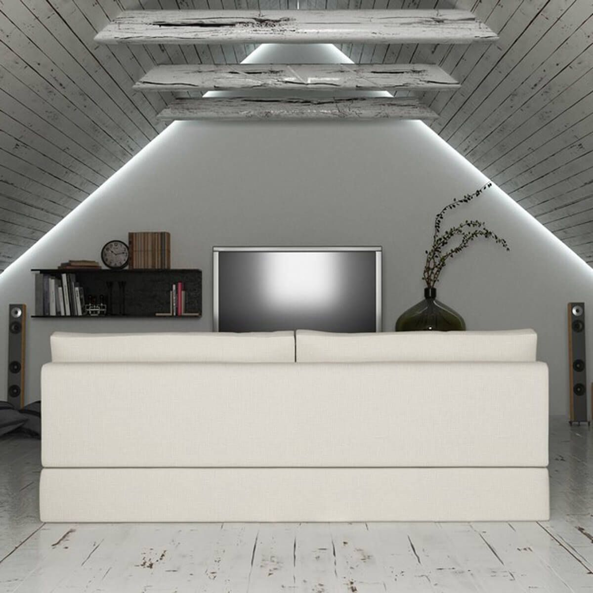 15 Awesome Man Cave Spaces For Watching The Big Game Attic Rooms Attic Lighting Attic Remodel