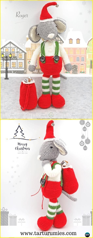 Crochet Roger the Christmas Mouse Amigurumi Free Pattern - Amigurumi ...