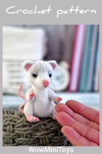 Step by step description crochet rat