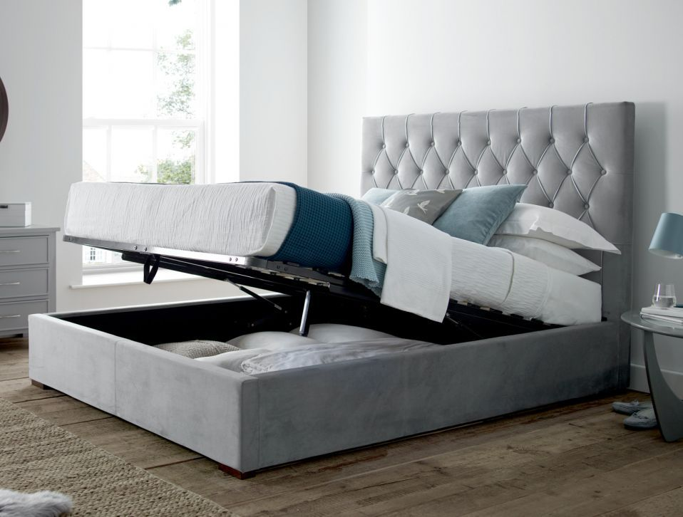 Milan Upholstered Bed Frame storage 3