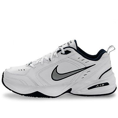 Nike Air Monarch IV Mens 415445-102 White Silver Navy Training Shoes Size  11.5 832c10b5d