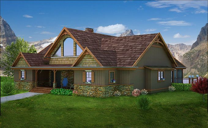 Mountain House With Open Floor Plan By Max Fulbright Designs Cottage House Plans House Plans Lake House Plans