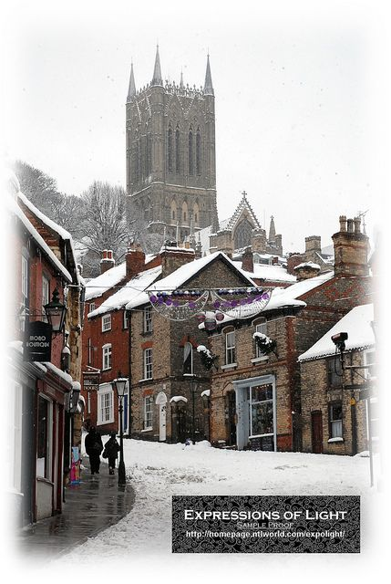 Steep Hill in the snow, Lincoln