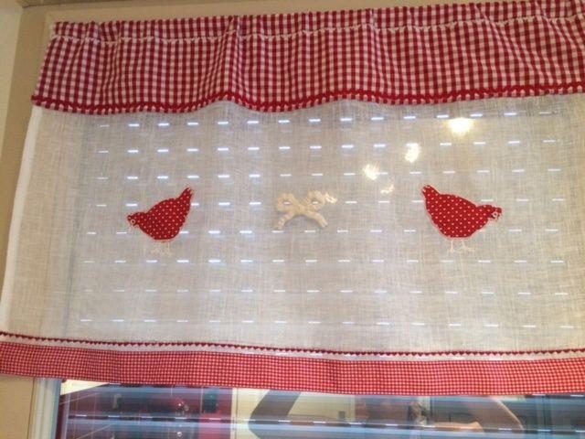 couture rideaux de cuisine rouge mes rideaux pinterest rideaux de cuisine rouge rideaux. Black Bedroom Furniture Sets. Home Design Ideas