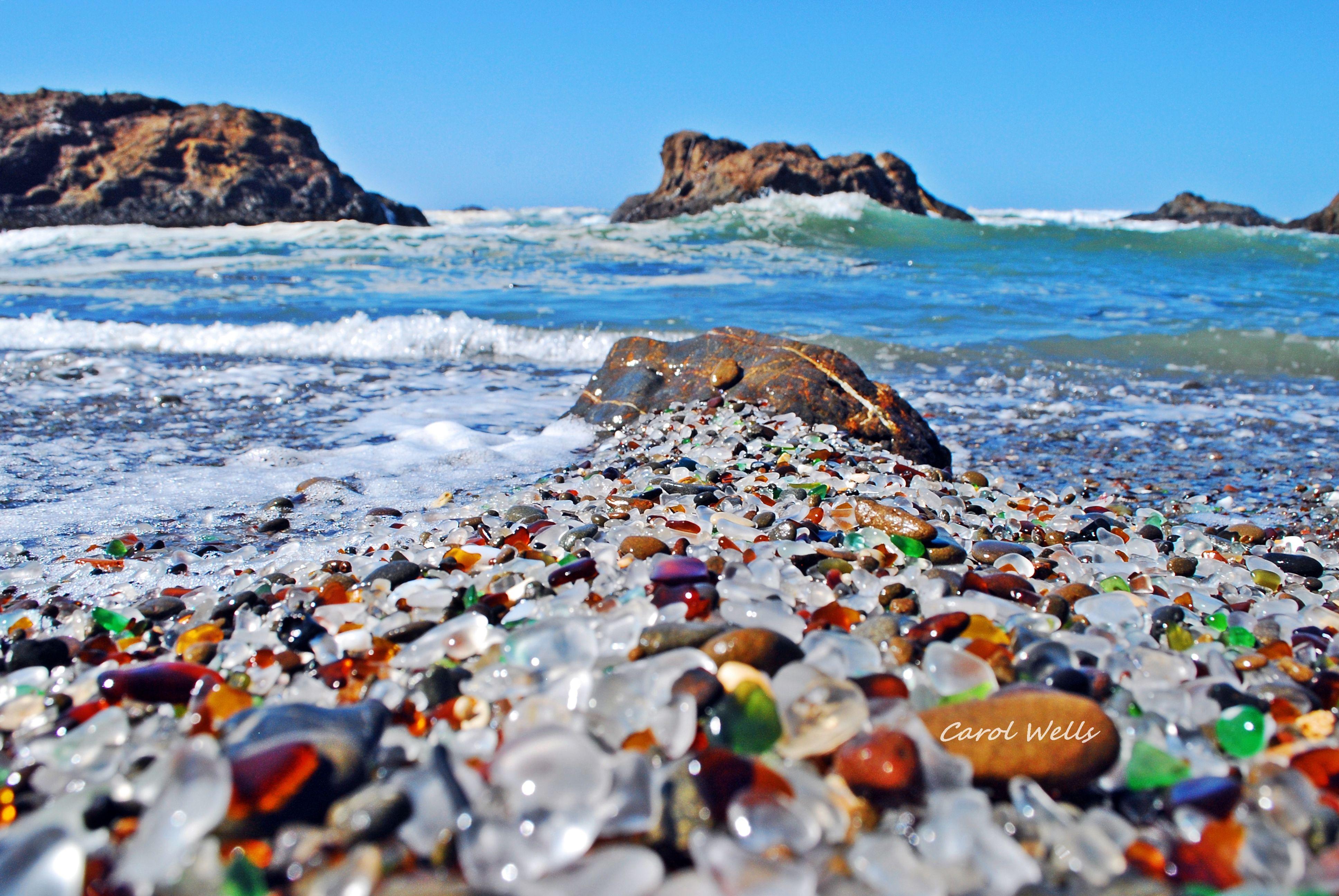 This Is A Beach In California Glass Beach In Ft Bragg