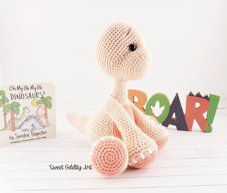 Brontosaurus Crochet Pattern Crochet Dinosaur Dinosaur Crochet
