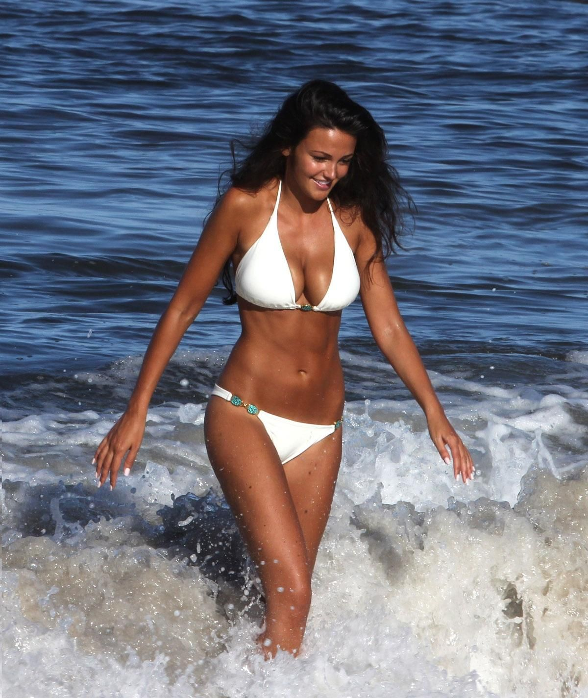 Michelle Keegan In On The Beach St Vincent Feet