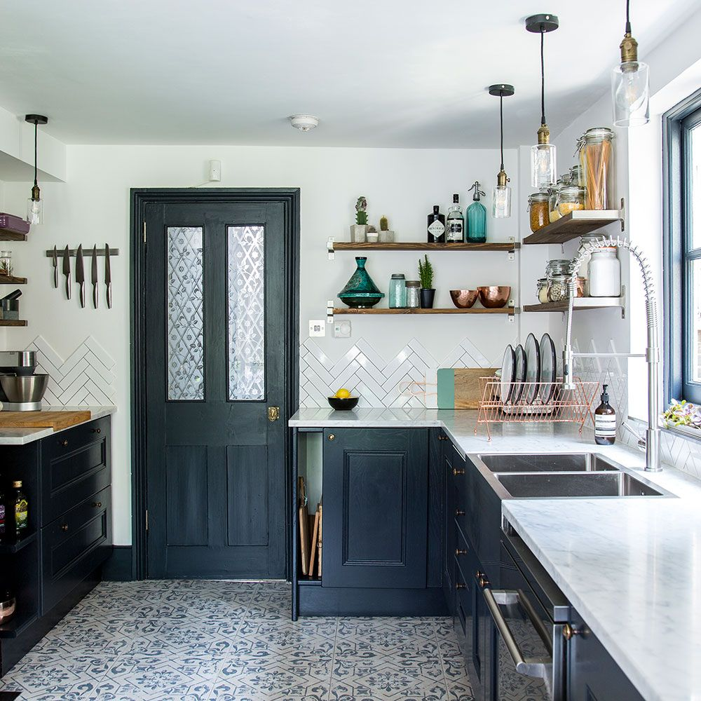 Narrow Country Kitchen: Before And After: From Narrow Space To Stylish Kitchen In