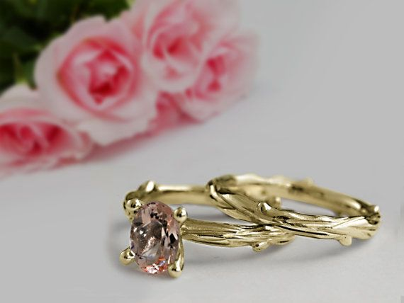18 ct Yellow Gold Engagement and Wedding Rings by DiorrahJewellery
