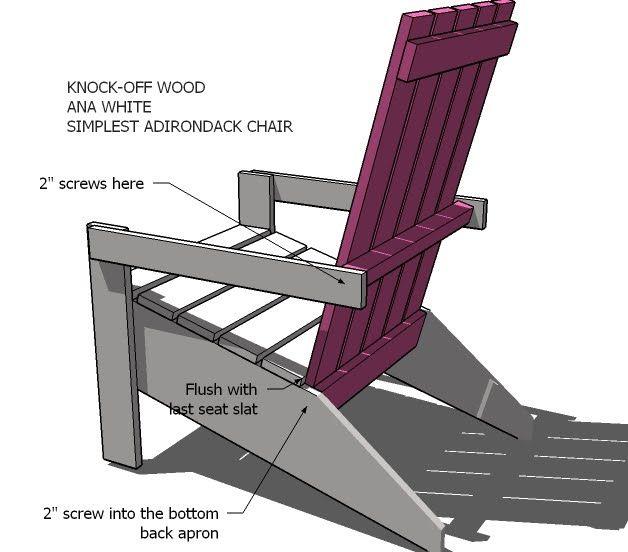 Ana White | Build a Ana\'s Adirondack Chair | Free and Easy DIY ...