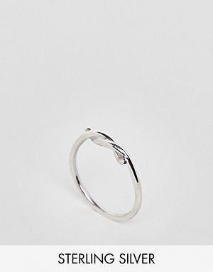 DESIGN Sterling Silver Vintage Style Icon Charm Ring - Silver Asos Rch919OMPa