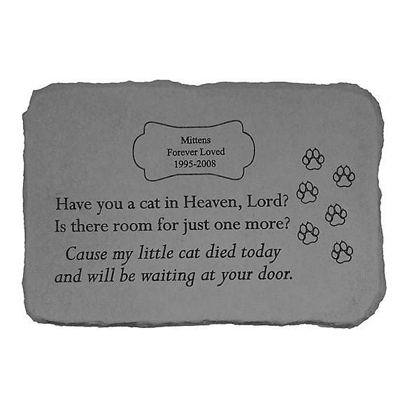 Kay Berry Have You A Cat In Heaven Personalized Memorial Stone