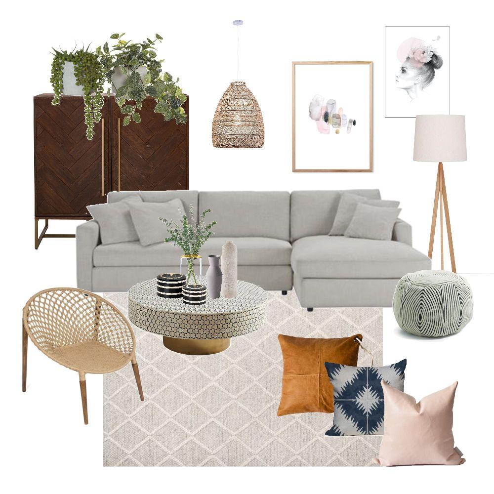 Bohemian Luxe Interior Design Mood Board E Decorating Jes