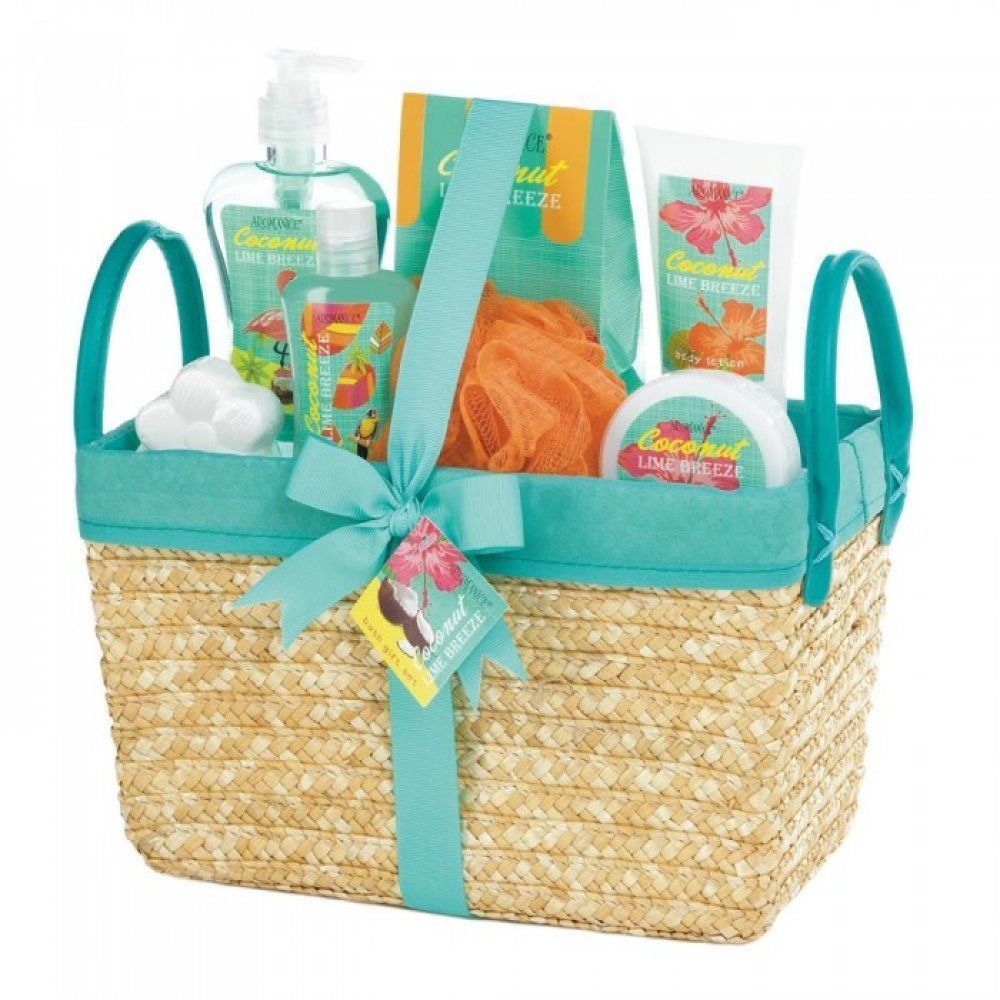 Relaxing Island Retreat Spa Treatment Christmas Holiday Gift Basket