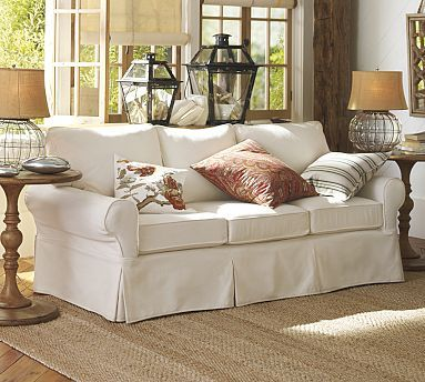 Pottery Barn Slipcover Sofa Sectional Living Room Decor