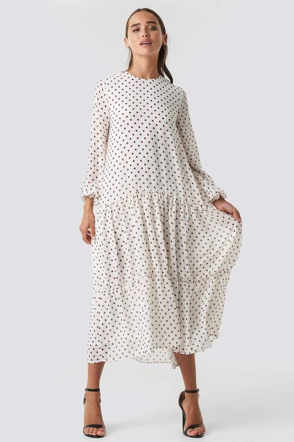 1004e28b9dc Dotted Ruffle Chiffon Dress in 2019 | Products | Dresses, Chiffon ...