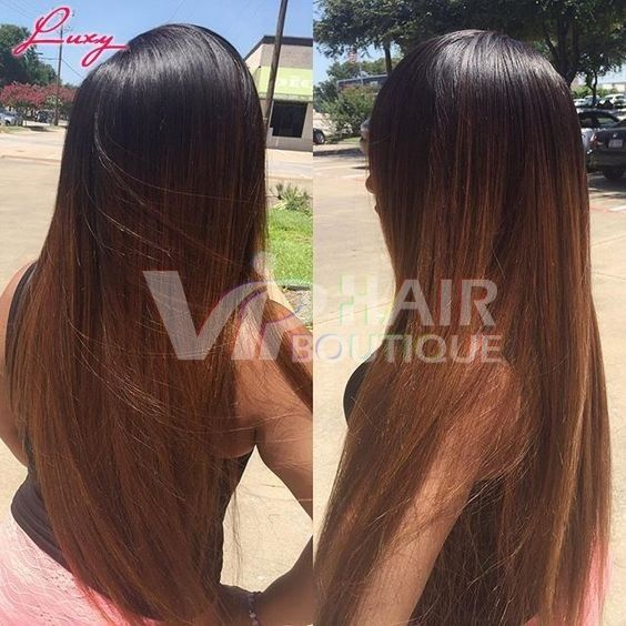 20 Inch Ombre Brown Human Hair Full Lace Natural Hair Wig For Sale Us 239 99 Viphairboutique Long Hair Styles Hair Styles Natural Hair Styles