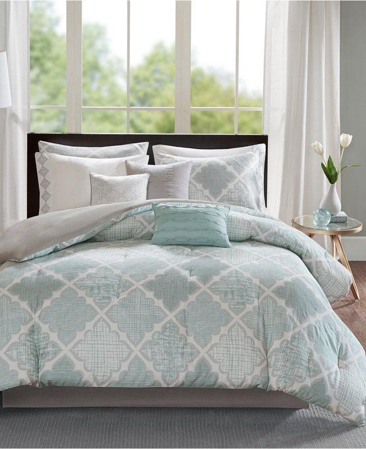 Madison Home Usa Cadence 9 Pc Cotton King Comforter Set Bedding
